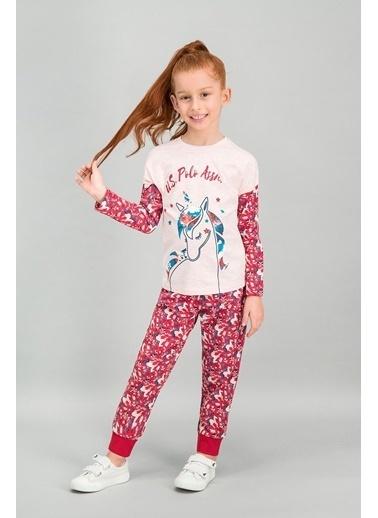 U.S. Polo Assn. U.S. Polo Assn Lisanslı Pembemelanj Kız Çocuk Pijama Takımı Pembe